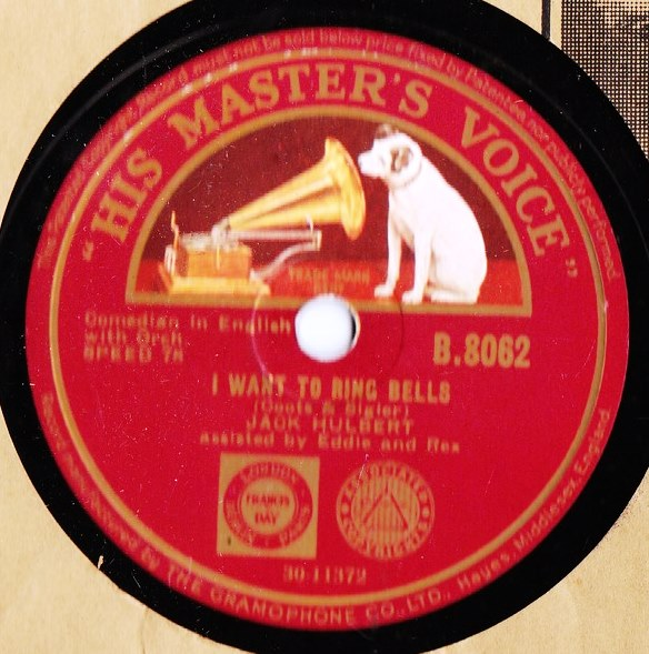 JACK HULBERT - I WANT TO RING BELLS - HMV B.8062